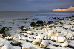 Sunrise, the 7 sisters cliffs from Birling Gap