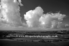 Dramatic clouds over the Sussex Downs
