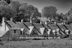 Arlington Row Cottages, Bibury village, Gloucestershire Cotswolds, England, UK