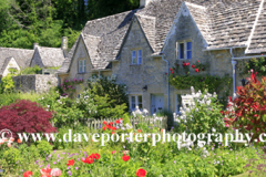 Spring, April, May, Cottages, Bibury village, Gloucestershire Cotswolds, England, UK