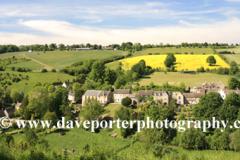 Cottages, Naunton village, Gloucestershire Cotswolds, England, UK