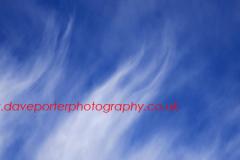 Cirrus Uncinus clouds in a blue sky