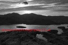 Sunset over Derwentwater, Keswick, Lake District