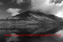 Buttermere Fells, reflected in Buttermere