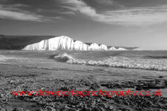 The 7 sisters chalk cliffs from Hope Gap, Sussex