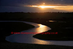 The river Cuckmere ox bow meander, 7 Sisters, Sussex