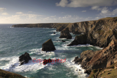Bedruthan Steps sea stacks, Carnewas Island, Cornwall