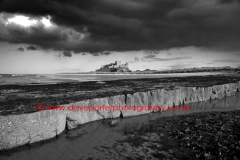 Storm clouds over Bamburgh Castle, Northumbria