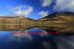 Autumn. Whiteless Pike, reflected in Buttermere