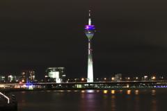 Rheinturm Television Tower Media Harbour, Düsseldorf