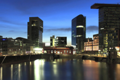 Modern Office buildings, Media Harbour Düsseldorf