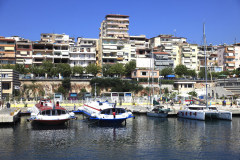 Summer, beach and promenade, Saranda Town, Albania