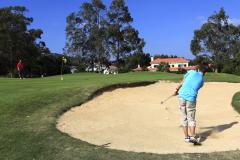 Golfer on the Beloura golf course, Cascais Portugal