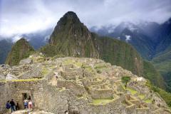 Overview of the ruins of Macchu Picchu, Peru