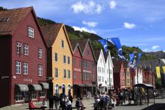 The Hanseatic buildings Bryggen, Bergen City