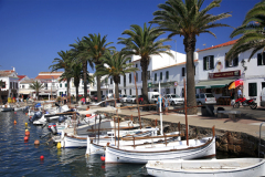 Fornells village harbour, Balearic island of Menorca