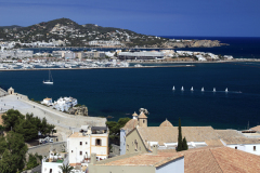 The harbour and bay, Ibiza Town, biza
