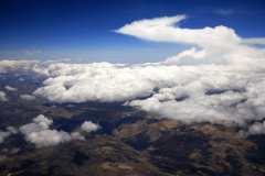 Clouds from a Plane over the Andes Mountains, Peru