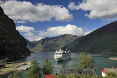 Cruise ship MSC Orchestra, town of Flam, Norway