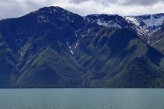 Mountains surrounding Sognefjorden Fjord, Norway