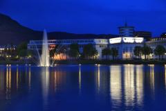 Fountain and Kuntsmuseum, City Park, Bergen