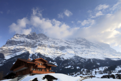 Swiss Chalet, Grindelwald with the Eiger Mountain