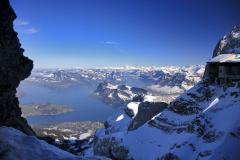 View to lake Luzerne Switzerland