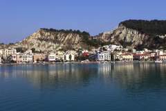 The harbour and Zakynthos town, Zante