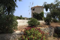 Windmill in the farming village of Skinari, Zakynthos