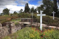 World War 1 battlefield of Le Linge, Alsace France