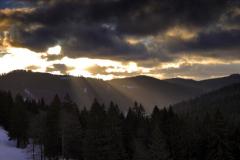 Sunrise, Black Forest at Feldberg Germany