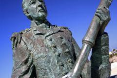 Statue at the port of Ciutadella, Menorca