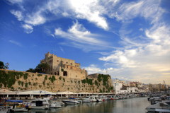Overview of the port of Ciutadella, Menorca