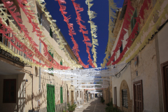 Colourfull ribbons in Inca town, Mallorca